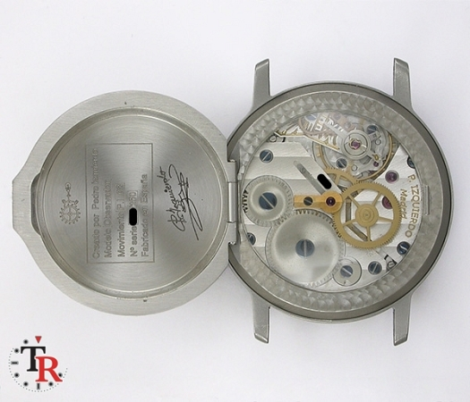 PEDRO IZQUIERDO rear workings of his watch