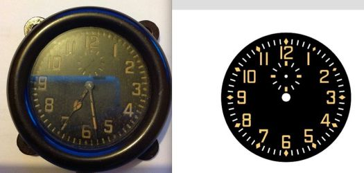original dial from the aircraft i16 TNT