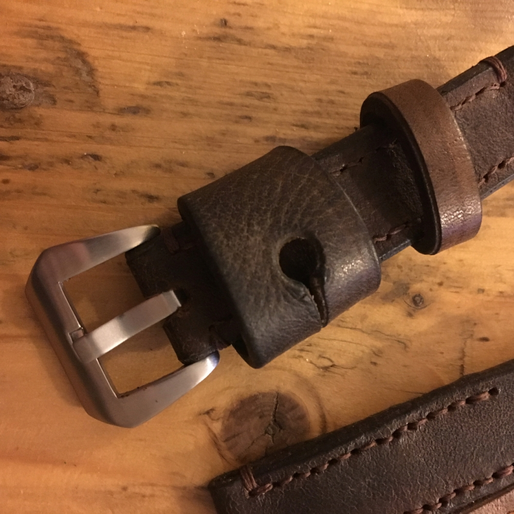 vintage leather ammo pouch watch strap - 6
