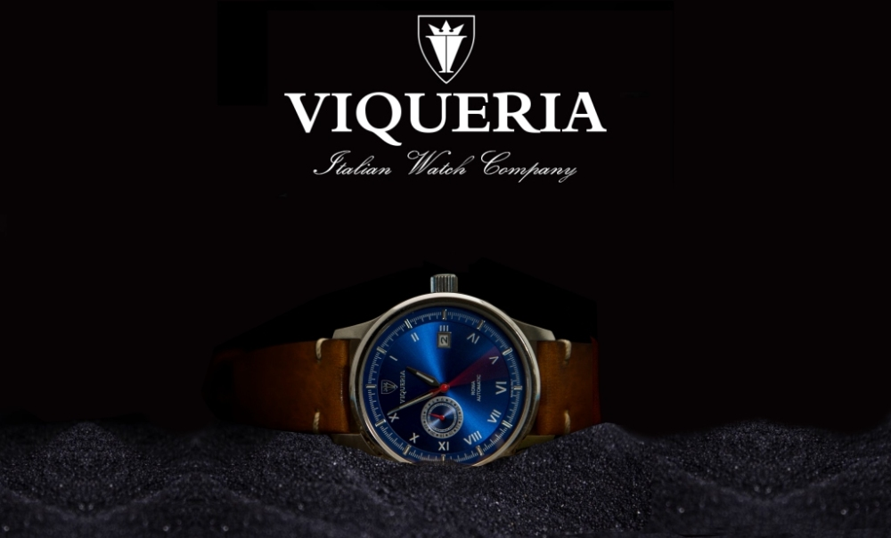 Viqueria Italian Watch Company Black Sand new blue (2)